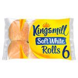 Kingsmill 6 Soft White Rolls