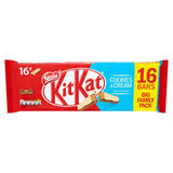 KITKAT 2 Finger Cookies & Cream Chocolate Biscuit Bar 20.7g 16 Pack