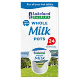 Lakeland Dairies 100% Dairy Whole Milk Portions 24 x 12ml