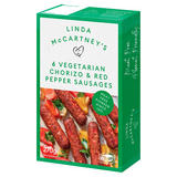 Linda McCartney's 6 Vegetarian Chorizo & Red Pepper Sausages 270g