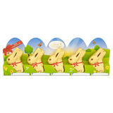 Lindt Gold Bunny Milk Chocolate 5 Pieces 50g