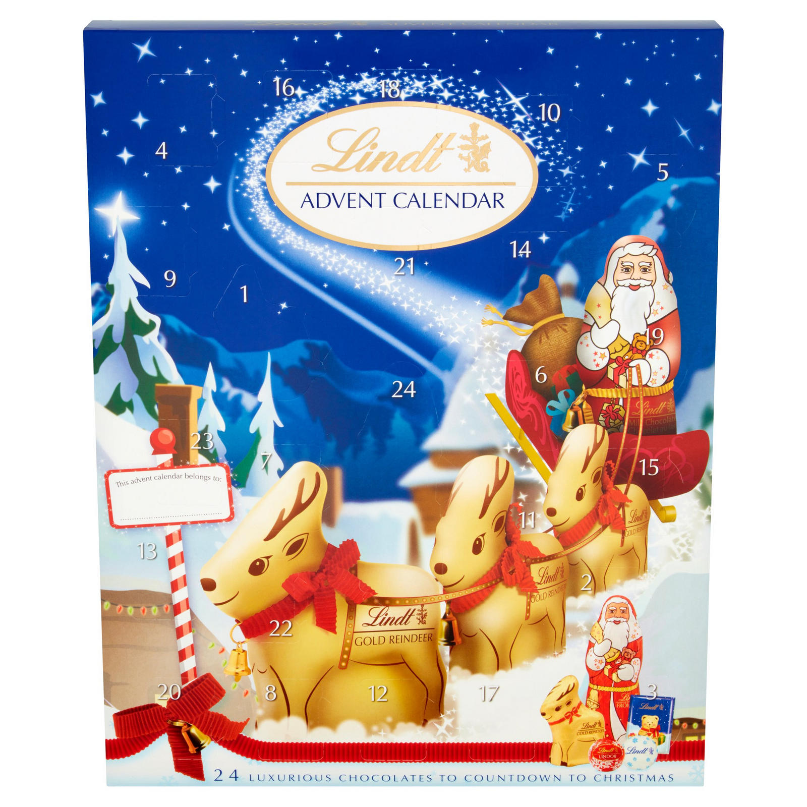 Lindt Milk Chocolate Advent Calendar Iceland Foods