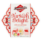 Loqumania Turkish Delight Soft Chewy Candy with Rose and Lemon 200g