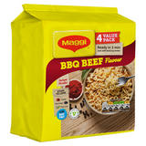 MAGGI 3 Minute Instant Noodles BBQ Beef Flavour 4 x 59.2g