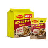 MAGGI 3 Minute Instant Noodles BBQ Beef Flavour 4 x 59g