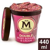 Magnum Double Ruby Berries & Cream Ice Cream Tub 440 ml