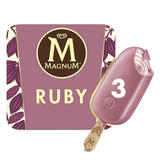 Magnum Ruby Ice Cream 3 x 90 ml