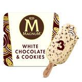 Magnum White Chocolate & Cookies Ice Cream 3 x 90 ml