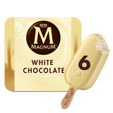 Magnum White Chocolate Ice Cream 6 x 110 ml