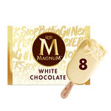 Magnum White Chocolate Ice Cream 8 x 110 ml