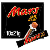 Mars 95Kcal Chocolate Snack Bars Multipack 10 x 21g