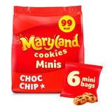 Maryland Minis Choc Chip Cookies 6 Mini Bags 118.8g