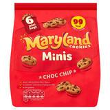 Maryland Minis Cookies Choc Chip 6 Mini Bags 118.8g