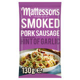 Mattessons Smoked Pork Sausage Hint of Garlic 130g