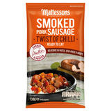 Mattessons Smoked Pork Sausage Twist of Chilli 130g