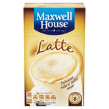 Maxwell House Classic Roast Latte Instant Coffee Sachets x8