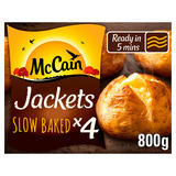 McCain 4 Frozen Baked Jacket Potatoes 800g