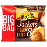 McCain 8 Frozen Baked Jacket Potatoes 1.6kg