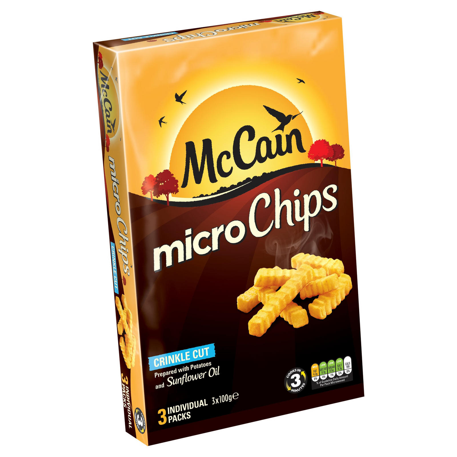 McCain Micro Chips Crinkle Cut 3 x 100g | Chips & Fries | Iceland Foods