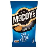 McCoy's Salt & Malt Vinegar Flavour Ridge Cut Potato Crisps 6 x 25g