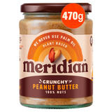 Meridian Crunchy Peanut Butter 470g Jar