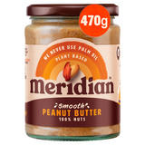 Meridian Smooth Peanut Butter 470g Jar