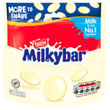 Milkybar White Chocolate Giant Buttons Sharing Pouch 196g
