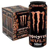Monster Mule Ginger Brew Energy Drink 4 x 500ml