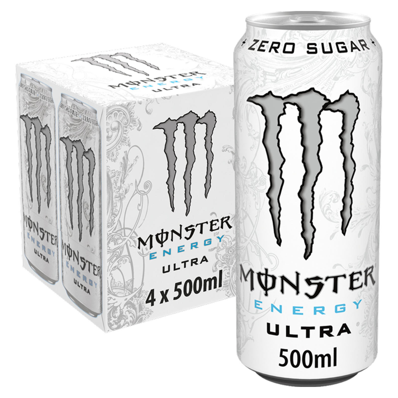 Monster Ultra Energy Drink 4 X 500ml Sports Energy Drinks Iceland Foods