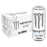 Monster Ultra Energy Drink 8 x 500ml