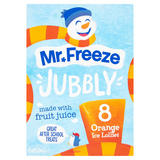 Mr. Freeze Jubbly Orange Ice Lollies 8 x 62ml