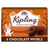 Mr Kipling 6 Chocolate Whirls