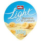 Müller Light Banana and Custard Fat Free Yogurt 160g