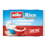 Müller Rice Strawberry and Original 6 x 180g (1080g)