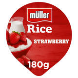 Müller Rice Strawberry Low Fat Pudding Desserts 180g