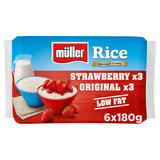Müller Rice Strawberry & Original Low Fat Pudding Desserts 6 x 180g