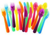 Multicoloured 18 Pack Picnic Cutlery Set