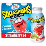 Munch Bunch Squashums Yogurt Drinks 4x90g