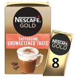 Nescafe Gold Cappuccino Unsweetened Instant Coffee 14.2g x 8 Sachets