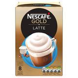 NESCAFÉ GOLD Latte Coffee, 8 Sachets x 19.5g