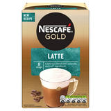 Nescafe Gold Latte Instant Coffee 8x 15.5g Sachets