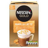 Nescafe Gold Vanilla Latte Instant Coffee 8 x 18.5g Sachets