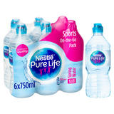 Nestle Pure Life Still Spring Water 6x750ml