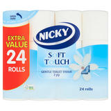Nicky Soft Touch Gentle Toilet Tissue 24 Rolls