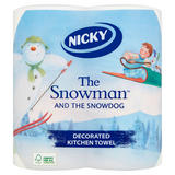 Nicky The Snowman and The Snowdog Decorated Kitchen Towel 2 Rolls