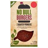 No Bull Quarter Pounders Burgers 2 x 113g (226g)