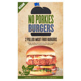 No Porkies Pulled Meat Free Burgers 2 x 113g (226g)