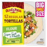 Old El Paso 12 Regular Tortillas Flour 489g