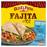 Old El Paso Extra Mild Super Tasty Fajita Kit 476g