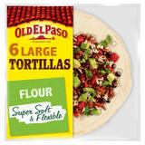 Old El Paso Large Super Soft Flour Tortillas x6 350g